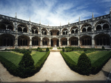 Cloister, Hieronymites Monastary, Libson, Portugal Photographic Print by Walter Bibikow