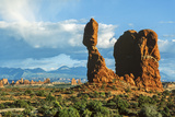 Balanced Rock, Arches National Park, Utah, USA Photographic Print by Ali Kabas