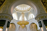 Large Chandelier in Sheikh Zayed Grand Mosque, Abu Dhabi, UAE Photographic Print by Bill Bachmann