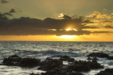 Scenic of Ocean Sunset, Kihe, Maui, Hawaii, USA Photographic Print by  Jaynes Gallery