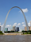 St Louis Skyline with Gateway Arch, Mississippi River, Missouri, USA Photographic Print by Joe Restuccia III