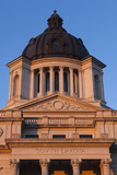South Dakota State Capitol Exterior, Sunset, Pierre, South Dakota, USA Photographic Print by Walter Bibikow