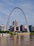 The St Louis Arch from the Mississippi River, Missouri, USA Fotografisk trykk av Joe Restuccia III