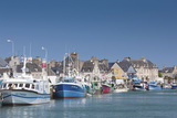 View of Town and Port, Saint Vaast La Hougue, Normandy, France Photographic Print by Walter Bibikow