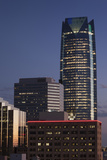 City Skyline with Devon Tower at Dusk, Oklahoma City, Oklahoma, USA Photographic Print by Walter Bibikow
