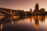 Third Avenue Bridge, Mississippi River, Minneapolis, Minnesota, USA Photographic Print by Walter Bibikow