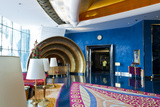 Lobby of the Burj Al Arab, in Dubai, United Arab Emirates Photographic Print by Bill Bachmann