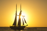 Sunset Cruise Schooner in Key West Florida, USA Photographic Print by Chuck Haney