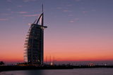Sunset at the Burj Al Arab, Dubai, United Arab Emirates Photographic Print by Bill Bachmann