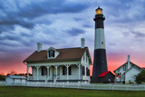 Tybee Light House at Sunset, Tybee Island, Georgia, USA Photographic Print by Joanne Wells