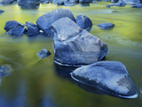 Boulders and Reflection, Little Salmon River, Idaho, USA Photographic Print by Charles Gurche