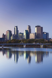 Skyline from the Mississippi River, Minneapolis, Minnesota, USA Photographic Print by Walter Bibikow