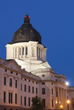 South Dakota State Capitol Exterior at Dusk, Pierre, South Dakota, USA Photographic Print by Walter Bibikow