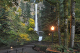 Multnomah Falls, Columbia River Gorge, Oregon, USA Photographic Print by  Jaynes Gallery
