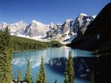 Wenkchemna Peaks and Moraine Lake, Banff NP, Alberta, Canada Photographic Print by Adam Jones