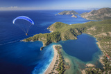Paramotor Flying in Oludeniz, Aerial, Fethiye, Turkey Photographic Print by Ali Kabas