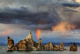 Rainbow and Storm Clouds over the Lake, Mono Lake, California, USA Photographic Print by  Jaynes Gallery