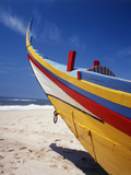 Bow of Fishing Boat, Silver Coast, Mira, Coimbra District, Portugal Photographic Print by Walter Bibikow