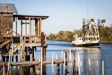 Shrimp Boat, Cocodrie, Terrebonne Parish, Louisiana, USA Fotografisk tryk af Alison Jones