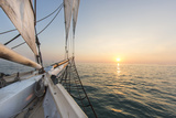 Sunset Cruise on the Western Union Schooner in Key West Florida, USA Fotografisk tryk af Chuck Haney