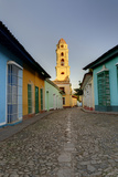Bell Tower, Plaza Mayor at Sunrise, Trinidad, Cuba Photographic Print by Adam Jones