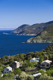 Coastal View of Pino, Le Cap Corse, Corsica, France Photographic Print by Walter Bibikow