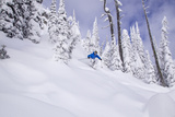 Skiing Powder, Whitefish Mountain Resort, Montana, USA Photographic Print by Chuck Haney