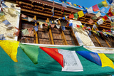 Prayer Flags in Downtown Alchi, Ladakh, India Photographic Print by Ellen Clark
