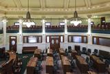 Senate Chamber, South Dakota State Capitol, Pierre, South Dakota, USA Photographic Print by Walter Bibikow