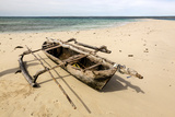 Traditional Dhow Boat on Beach, Mogundula Island, Mozambique Photographic Print by Alida Latham