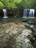 Twin Falls, Richland Creek, Ozark National Forest Arkansas, USA Fotodruck von Charles Gurche