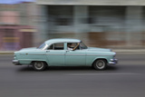 1950's Era Car in Motion, Havana, Cuba Photographic Print by Adam Jones