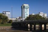 Skyline by the Arkansas River, Wichita, Kansas, USA Photographic Print by Walter Bibikow