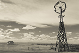 Windmill, 1880 Town, Pioneer Village, Stamford, South Dakota, USA Photographic Print by Walter Bibikow