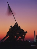 Iwo Jima Memorial at Sunset, Washington DC, USA Photographic Print by Walter Bibikow