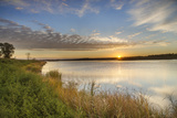 Sunrise over Wetlands at Arrowwood NWR, North Dakota, USA Stampa fotografica di Chuck Haney