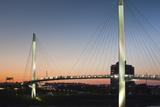 Bob Kerrey Pedestrian Bridge, Missouri River, Omaha, Nebraska, USA Fotodruck von Walter Bibikow