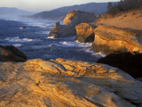 Sandstone Coastline, Cape Kiwanda State Natural Area, Oregon, USA Photographic Print by Charles Gurche