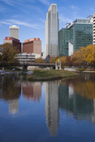 Gene Leahy Mall Skyline, Omaha, Nebraska, USA Fotodruck von Walter Bibikow