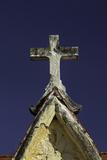 Old Cross Atop Mausoleum, Necropolis Colon, in Vedado, Havana, Cuba Photographic Print by Adam Jones