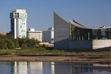 Skyline by the Arkansas River, Wichita, Kansas, USA Fotodruck von Walter Bibikow
