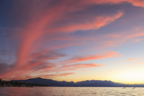 Spectacular Sunset Colors, Lake Tahoe, California, USA Photographic Print by Tom Norring