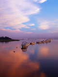 Boats in Harbor, Evening Light, Chatham, Massachusetts, USA Photographic Print by Walter Bibikow