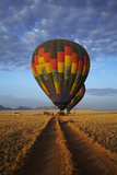 Launching Hot Air Balloons, Namib Desert, Near Sesriem, Namibia Photographic Print by David Wall