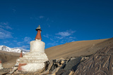 Chortens with Red Spires at Kurzok Village, Ladakh, India Photographic Print by Ellen Clark
