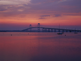 The Newport Bridge at Sunset, Newport, Rhode Island, USA Photographic Print by Walter Bibikow