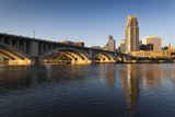 Third Avenue Bridge from Mississippi River at Dawn Photographic Print by Walter Bibikow