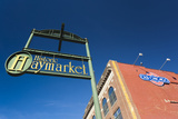 Sign for the Haymarket District, Lincoln, Nebraska, USA Fotografie-Druck von Walter Bibikow
