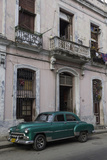 1950's Era Car Parked on Street in Havana Cuba Photographic Print by Adam Jones
