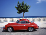 Porsche 356 on the Beach, Altea, Alicante, Costa Blanca, Spain Photographic Print by Walter Bibikow